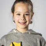 Lou Lou schoolfoto, knotje kleur