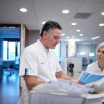 2019-10-31 Rotterdam MC Afdeling Cardiologie -Arts en zuster- Rudolf Bijleveld. Gemaakt door Phil Nijhuis